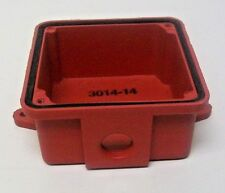 "Farady 3014B-0-14 Weatherproof Box Red with One 1/2"" Hub"