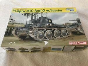 Dragon 1/35 Pz.Kpfw.38(t) Ausf.G w/Interior Plastic Model Kit 6290 Smart Kit
