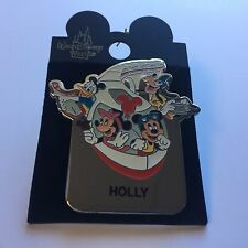WDW - Monorail HOLLY Name Pin FAB 4 Mickey Minnie Goofy Donald Disney Pin 15004