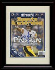 Framed Ben Roethlisberger SI Autograph Replica Print Pittsburgh Steelers eefa7f0aa