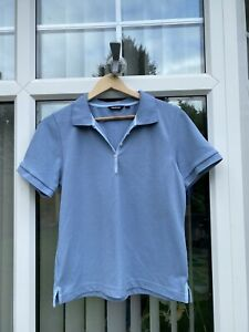 Womens Rohan Blue Polo Shirt Size Medium