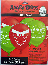 """ANGRY BIRDS PARTY SUPPLIES 6 x 12"""" LATEX HELIUM QUALITY BALLOONS GENUINE LICENSE"""