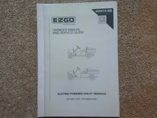 EZGO ELECTRIC MPT/INDUSTRIAL800, MPT/INDUSTRIAL1000 OWNERS MANUAL (ref175)