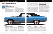 1969 CHEVROLET NOVA SS ~ NICE 5-PAGE BUYERS GUIDE ARTICLE / AD