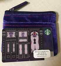 Starbucks Korea 2015 Anna Sui Card with Matching Card Pouch