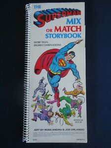 SuperMan Mix or Match Storybook 1979 DC Random House Pub