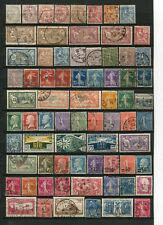 Sammlung  Frankreich  o - aus 1900 - 1930 -  KW  ca. 75,--  €  ( 39816 )