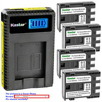 Kastar Battery LCD Charger for Canon NB-2L 2L Canon PowerShot S45 PowerShot S50