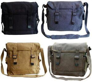 New Shoulder Messenger Military Vintage Bag Army Webbing Haversack Retro Satchel