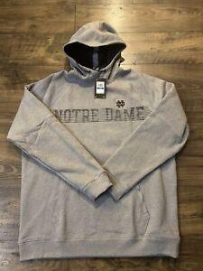 Under Armour Notre Dame Fighting Irish Campus Fleece Hoodie Sz Large 1364287 NWT