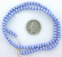 2 Strand 4mm Round Light Blue Round Fiber Optic Bead CLOSEOUT CLEARANCE fobsc14