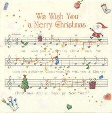 2 Tovaglioli Carta Musica Joyeux Natale carta Tovaglioli Music We Desiderio You