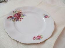 Vintage Poland Favolina porcelain Dinner Plate pink Roses flower Bouquet FAV2