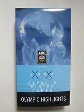 2002 OLYMPIC WINTER GAMES Highlights VHS Tape SARAH HUGHES APOLO OHNO JIM SHEA