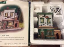 "Dept 56 New England Village ""Wm Walton Fine Clocks & Pocket Pieces"" #56628"