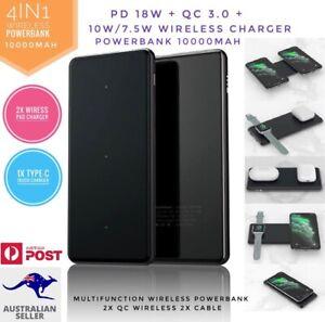 QI Wireless PowerBank 10000mAh  PD 18W QC multifunction external Charger 4IN1