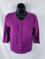 BP Nordstrom Purple Lightweight 3/4 Sleeve Cardigan Sweater Medium