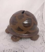 STUDIO POTTERY STONEWARE TORTOISE MONEY BOX