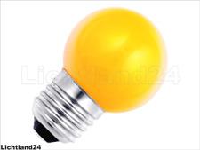 E27 - 1,5 Watt LED Color Ball bunte Tropfenlampe GELB verglb. 15W Glühlampe