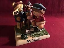 """Zingle Berry """"#1 Golfer"""" Figurine 1998 Pavilion Gift Co  1E/1019"""