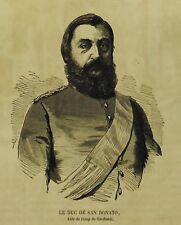 1859:Guerre d'Italie.Duca di San Donato,Aiuto di campo di Garibaldi -.Xilo.Etna