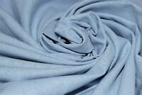 "Light Blue 100% Pennsic Linen Soft Drapery Apparel Fabric 55""W By The Yard"