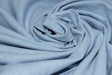 """Light Blue 100% Pennsic Linen Soft Drapery Apparel Fabric 55""""W By The Yard"""