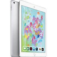 """Apple 9.7"""" iPad 6th Gen 128GB Silver Wi-Fi MR7K2LL/A 2018 Model"""