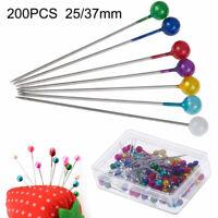 200Pcs Pearl Head Pins Dressmaking Decorating Sewing DIY Needles Craft Tool Hand
