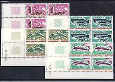 SPM Saint Pierre et Miquelon Animaux marins N° Yvert 391/394 en COINS DATES Luxe