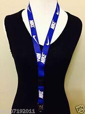 New! Nike Lanyard blue Keychain, ID Badge, cell phone holder
