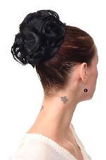 Hair Piece Bun Bun Bun 60er Jahre Vintage Took Curly Black nha-004a-1