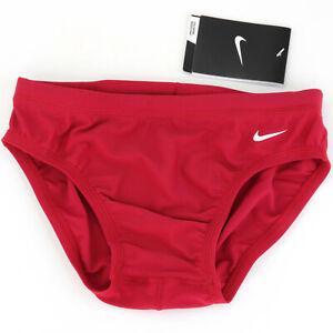 Nike Swimwear Mens Briefs Size 28 Small Performance Swim Trunks Red TESS0052 $40