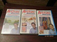 The Step by Step Art Course Video VHS Collection Three Video Set Vol  4, 7, 12