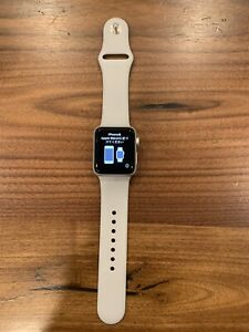 Apple Watch Series 3 38mm Silver Aluminum Case With Gray Band
