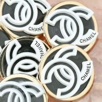 Chanel Buttons 4pc CC 🖤  Black Silver White 23mm Unstamped AUTH!!!