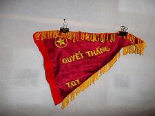 flag543 North Vietnam Army NVA flag Quyet Thanh T.Q.T bugle banner Indochina
