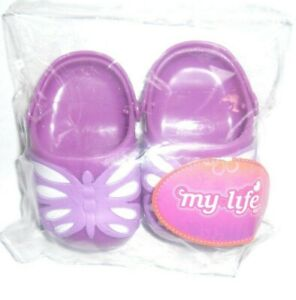 """Pairs of My Life Butterfly Clogs/Croc for 18"""" My Life Dolls, 3 yrs. +"""