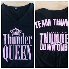 Australia's Thunder From Down Under Black 2-Sided T-Shirt Women's Size XL