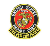 """Marine Corps The Few The Proud Iron On Patch 3 1/2"""" x 3 1/2"""" PM0644 Eagle Emblem"""