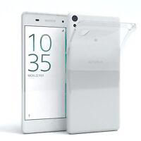 Schutz Hülle für Sony Xperia E5 Case Silikon Handy Cover Transparent