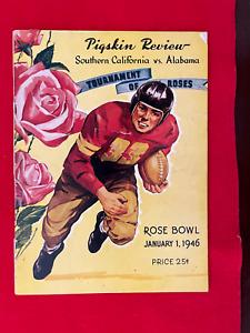 1946 Rose Bowl Program. Southern Cal Vs Alabama Crimson Tide