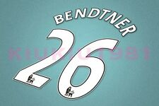 Arsenal Bendtner #26 PREMIER LEAGUE 07-13 White Name/Number Set