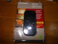 New Lutron Credenza Lamp Dimmer Model TT-300NLH-BL 120V 300W In Black