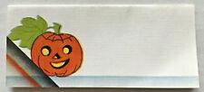 VINTAGE 1940's? Jack O' Lantern Small HALLOWEEN TABLE CARD