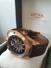 MENS ROTARY AUTOMATIC WATCH,EXHIBITION BACK ,, EXCELLENT ! ,, UK BIDDERS ONLY !!