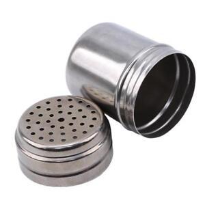 Stainless Steel Cruet Salt Pepper Seasoning Condiment Box Spice Shaker Bottle FA