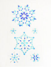 12 assorted Snowflake Sparkly Blue Resin Rhinestone Self Adhesive Embellishments