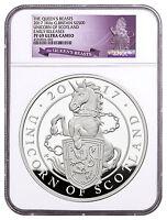 2017 Britain 1 Kilo Silver Queen's Beasts Unicorn £500 NGC PF69 UC ER SKU48255