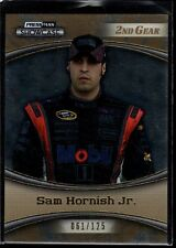 SAM HORNISH JR. 61/125 2ND GEAR GOLD 10 SP 2009 PRESS PASS SHOWCASE NASCAR MOBIL